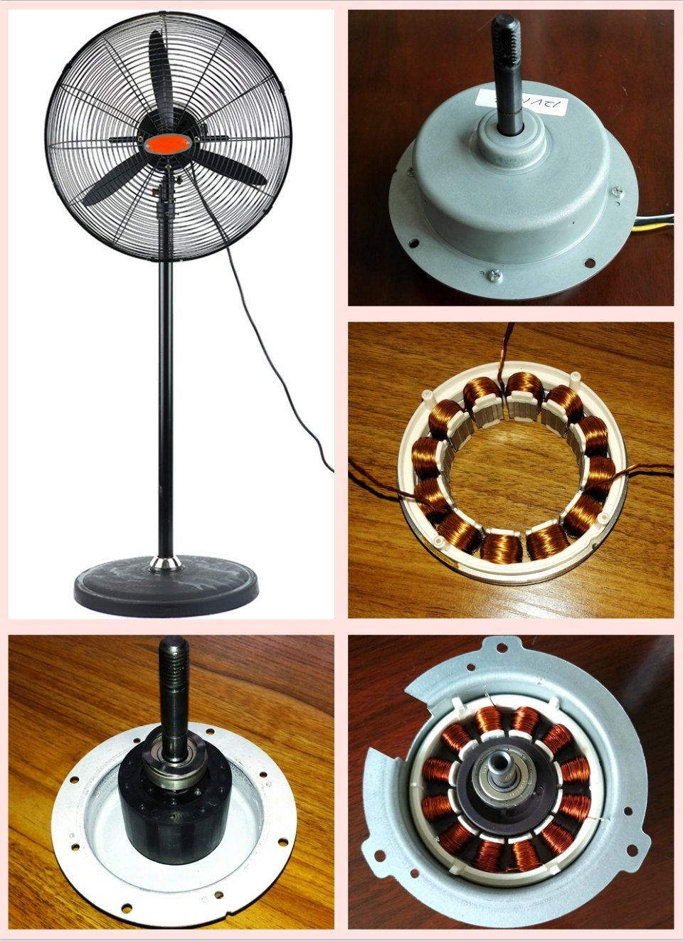 500mm 650mm 750mm Inverter DC Motor Industry Pedestal Fan with Aluminium Blades