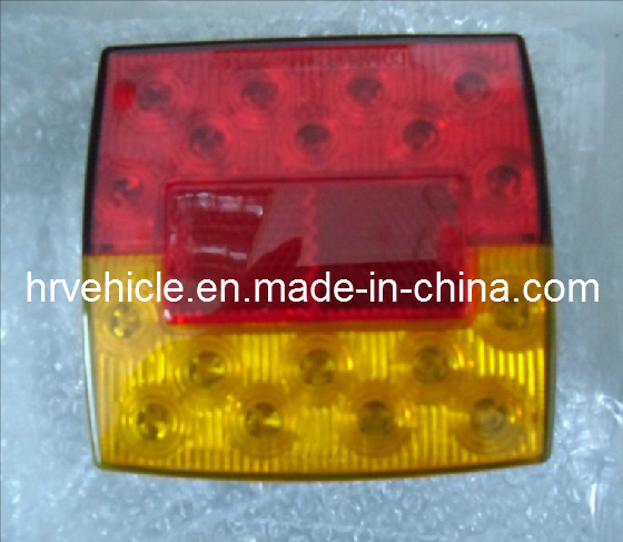 LED Square Light with Tail, Stop, Indicator, Plate Function