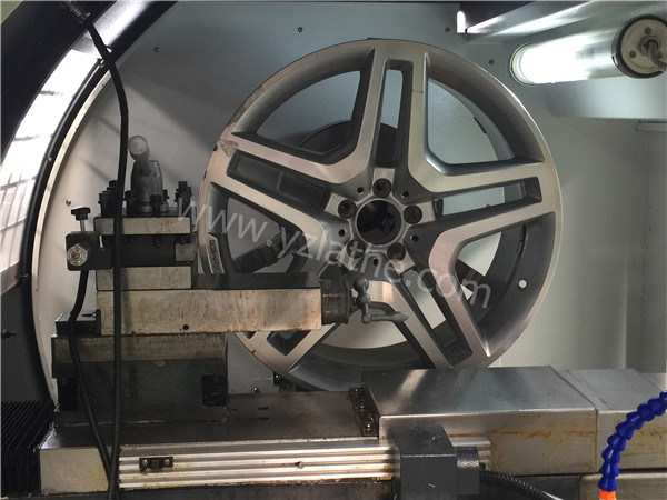 Wrc28 Alloy Wheel Rim Diamond Cutting Repair CNC Horizontal Lathe Machine