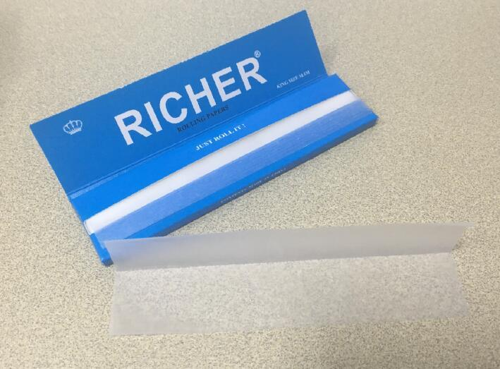 Richer Brand 13GSM Ultra Thin Hemp Cigarette Smoking Rolling Papers