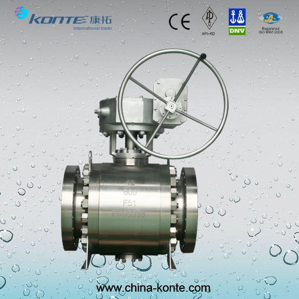 High Quality Side Entry Forged Trunnion Ball Valve F51