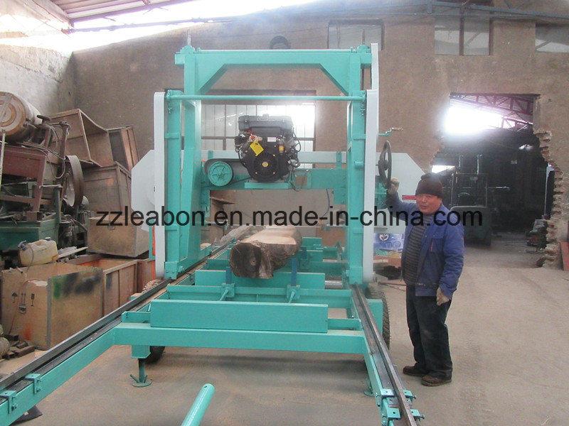 Large Wood Cutting Diesel Engine Horizontal Bandsaw Sawmill Equipment