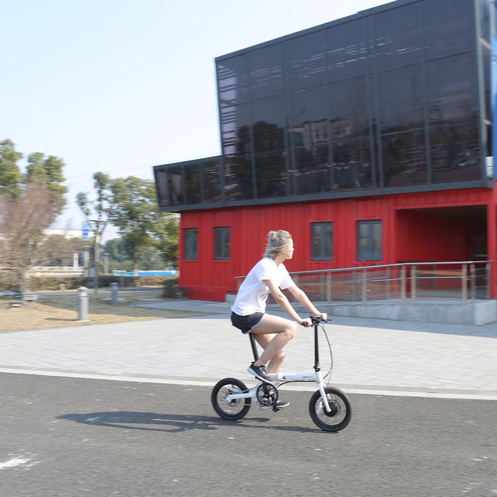 36V Hidden Battery Electric Bike 16 Inch Intelligent Folding Ebike