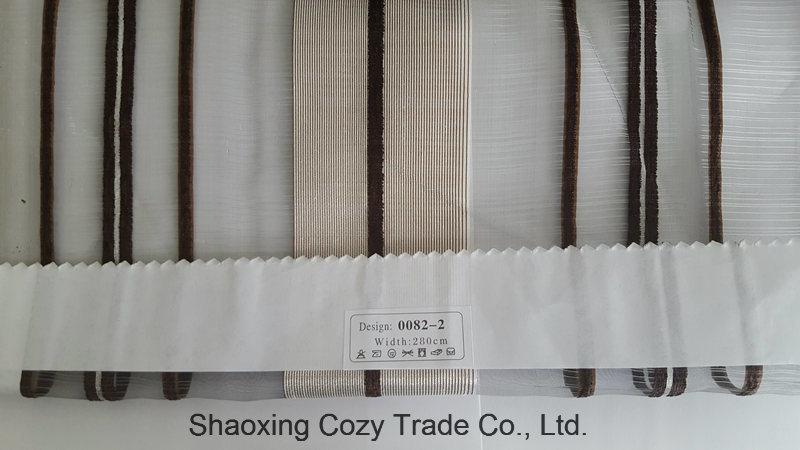 New Popular Project Stripe Organza Sheer Curtain Fabric 00822