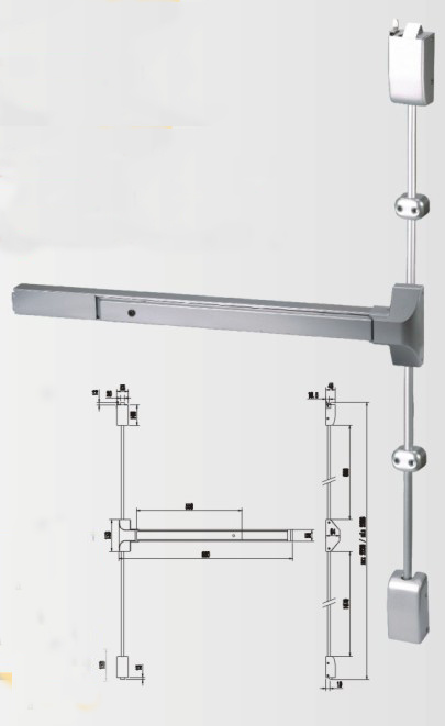 Dt-1100V Serise Vertical Rod Panic Exit Device