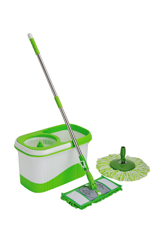 Steel Pole Magic 360 Spin Mop with Microfiber Head (MTS-SM-201B)