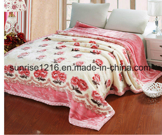 High Quality Mink Blanket Sr-B170214-9 Printed Mink Blanket Solid Mink Blanket