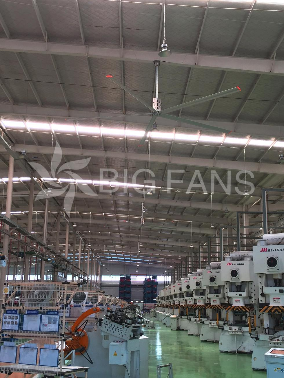 1.5kw Energy Saving Industrial Ceiling Fan Big Industrial Ventilator Fan 5.0m (16.4FT)