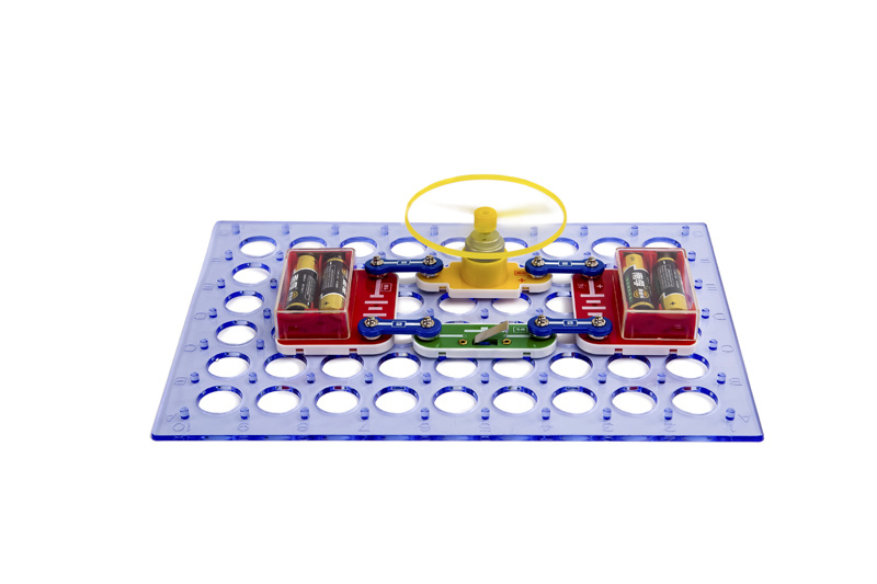 Hot Sale Children Plastic Building Blocks Labs Science Inventor Kit Boy′s Toy Beginner Electronic Discovery Kit