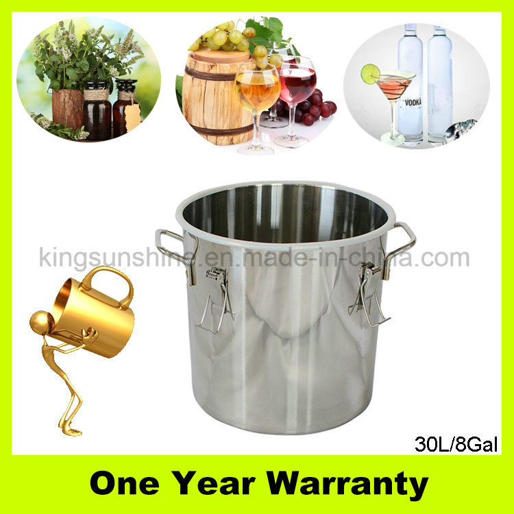 30L/8gal Stainless Steel Moonshine Still Home Brew Equipment for Distilling Water