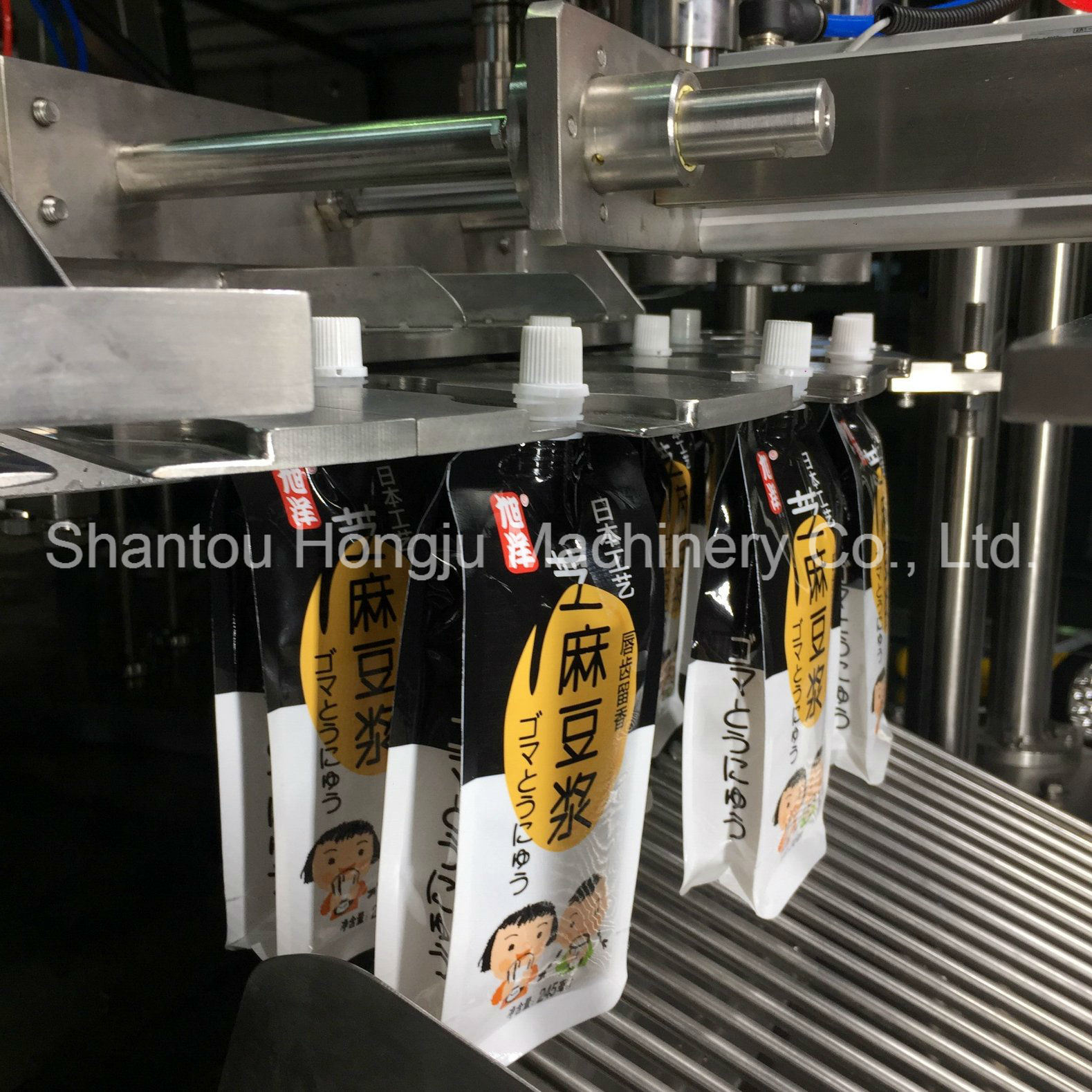 Automatic 90g Yogurt Pouch Filling Capping Machine