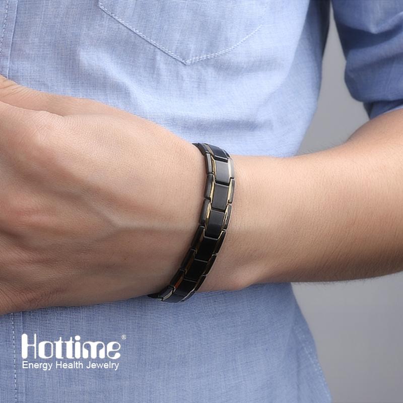 Fashion Health Energy 316L Stainless Steel Magnetic Bracelets for Men
