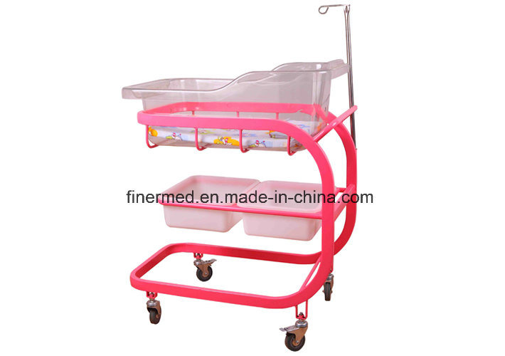 Hospital Baby Bed with IV Pole