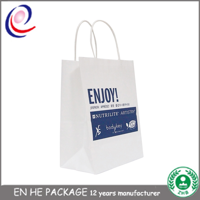 British & French Style Gift Paper Bags with Handle