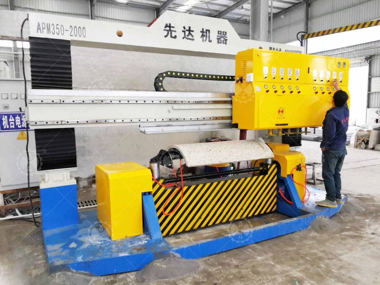 Apm-350-2000 Stone Polishing Machine