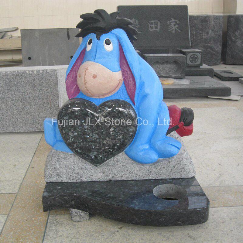 Blue Pearl Granite Eeyore Sculpture Baby Headstones