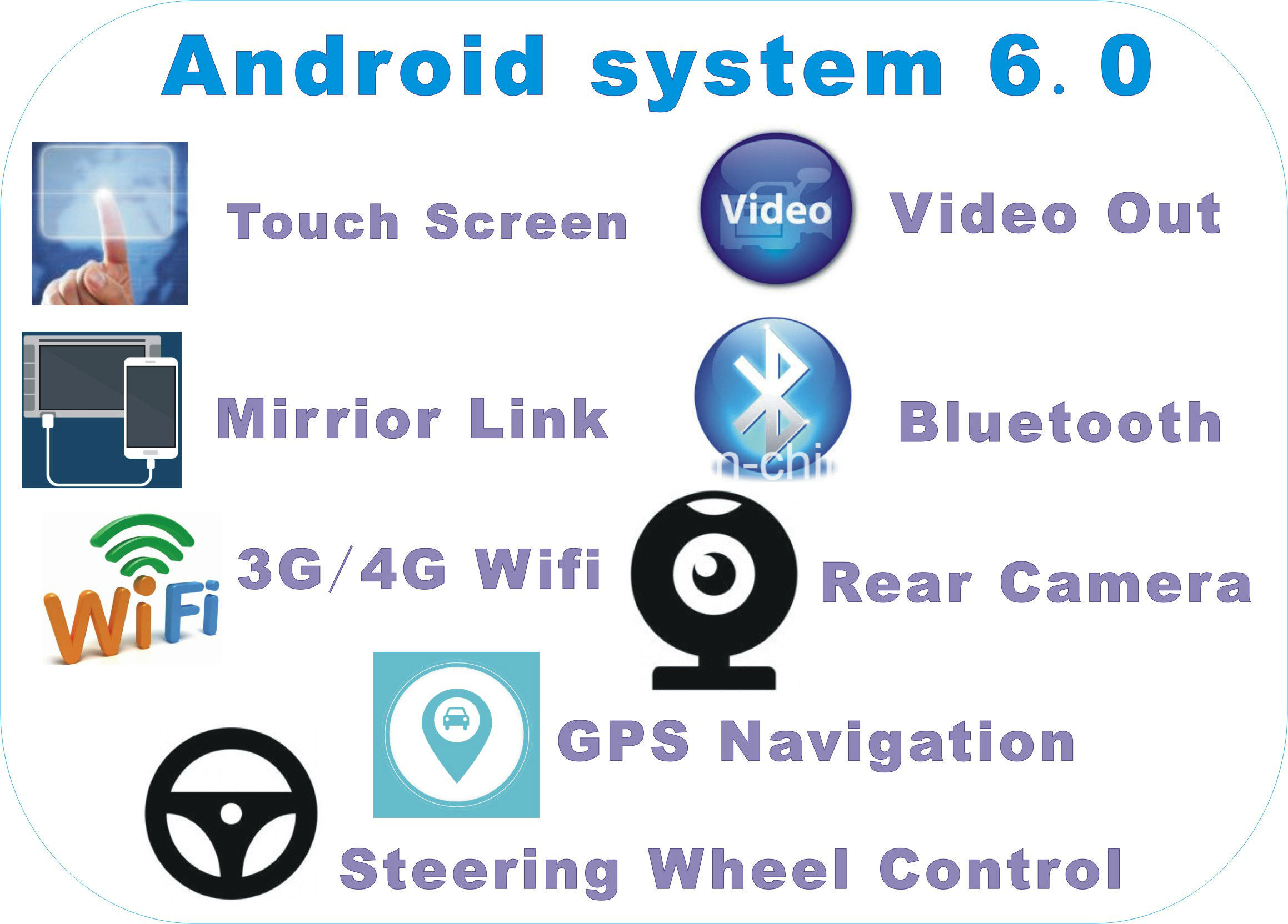 New Ui Android System 6.0 Car GPS Navigation for BMW E46 with Car DVD Player