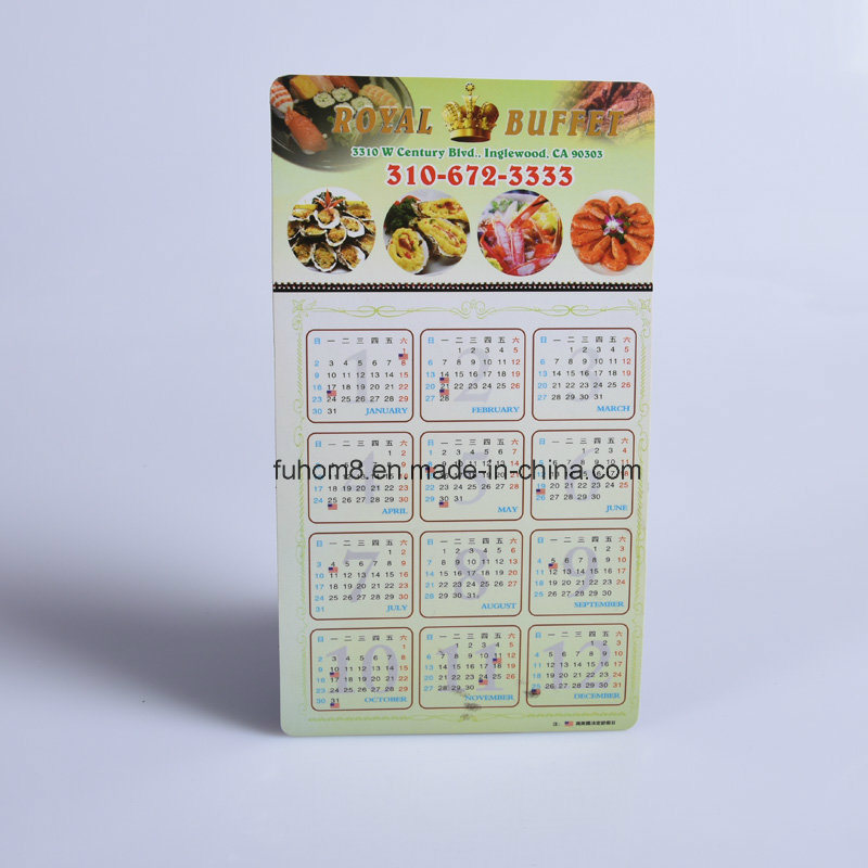 Custom Fashion Paper Calendar Fridge Magnet