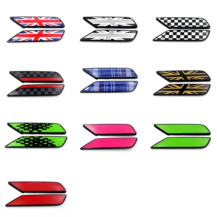Black Color Union Jack Replacement Side Lamp Cover for Mini Clubman