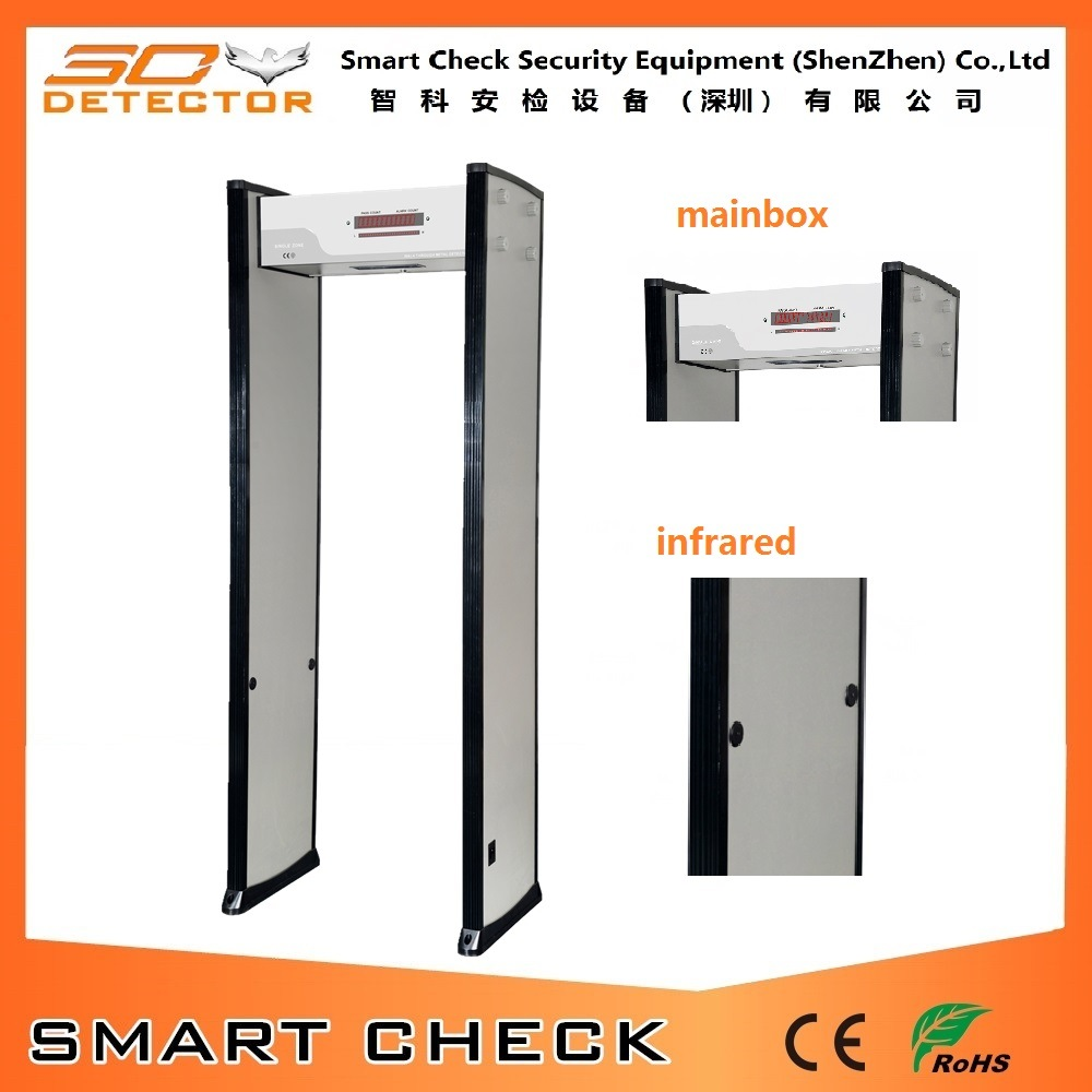 Single Zone Walk Through Metal Detector Walk Through Equipment