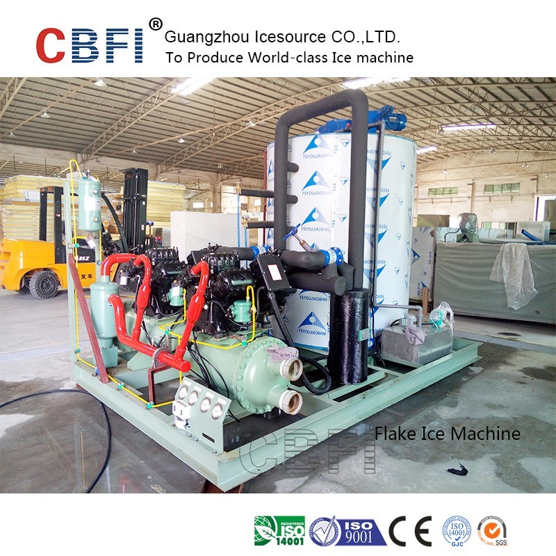 Guangzhou 1ton to 60tons High Quality Flake Ice Machine for Fishery Cooling