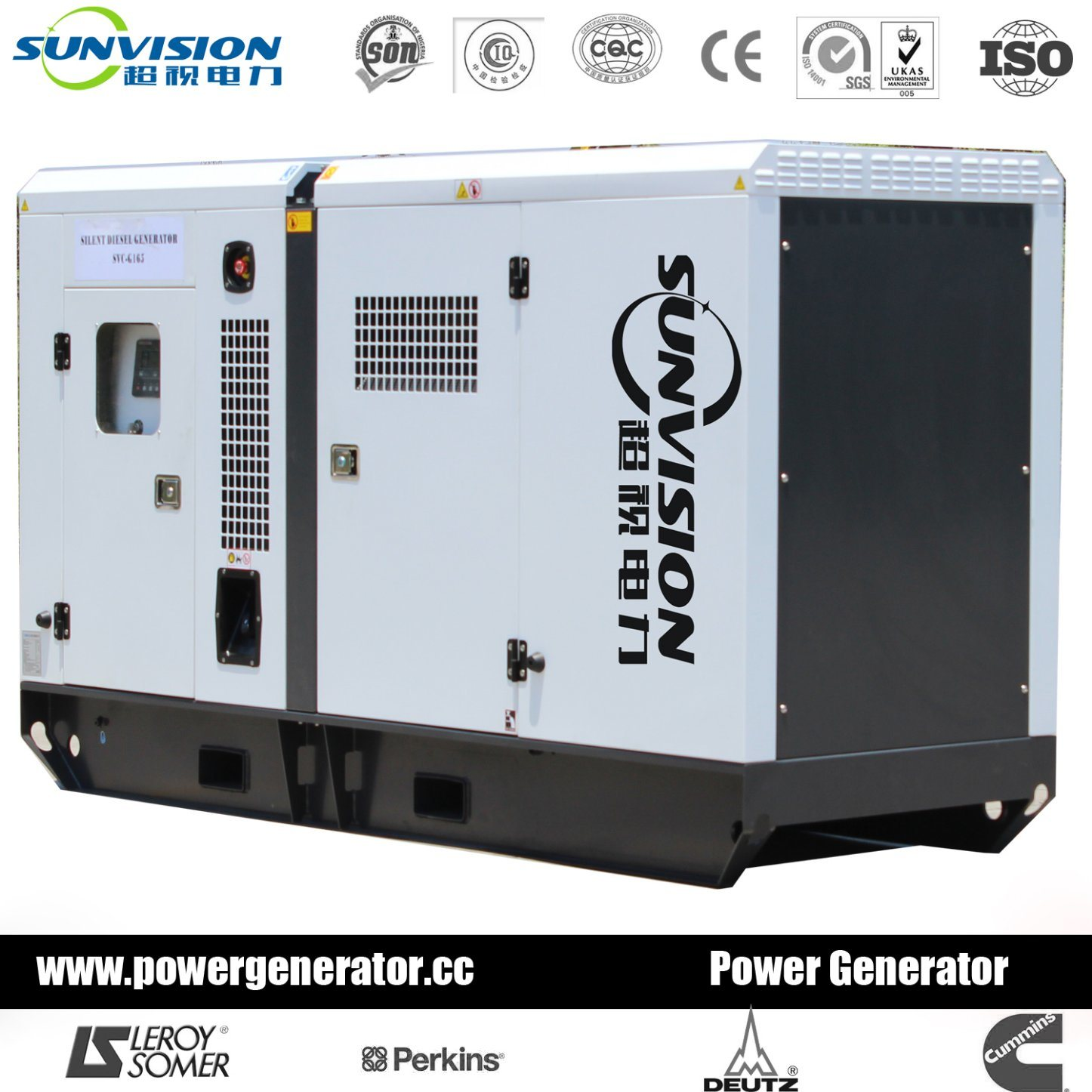 60Hz 80kVA Generator Set with Perkins Engine