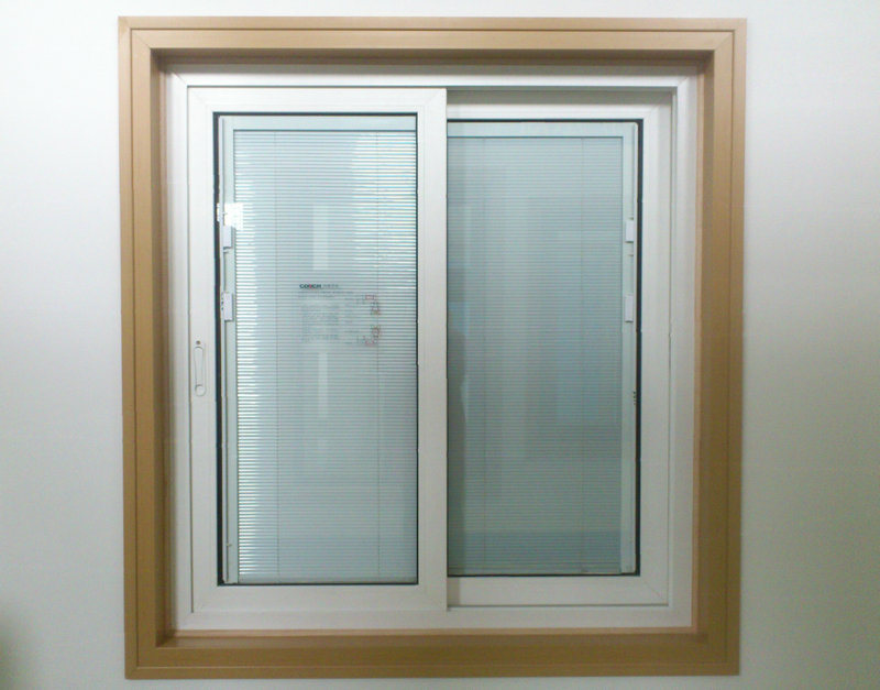 House and Office Tempered Double Glass PVC UPVC Aluminium Sliding Window