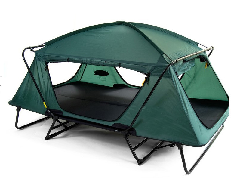 outdoor high quality metal frame fishing folding bed camping tent with feet