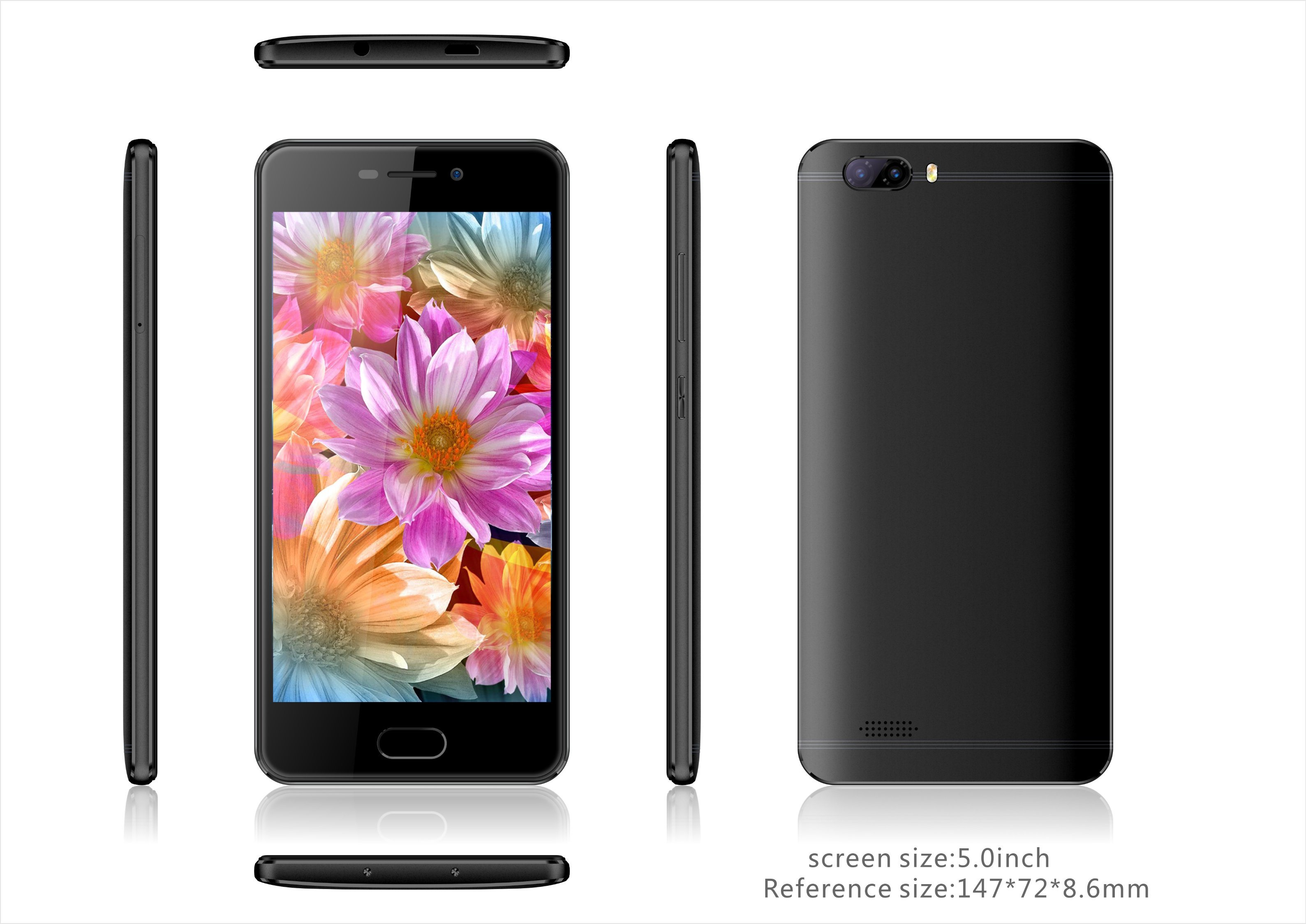 5 Inch 4G Lte Smart Phone China Android Phone Dual SIM Fingerprint Cell Phone (5032)