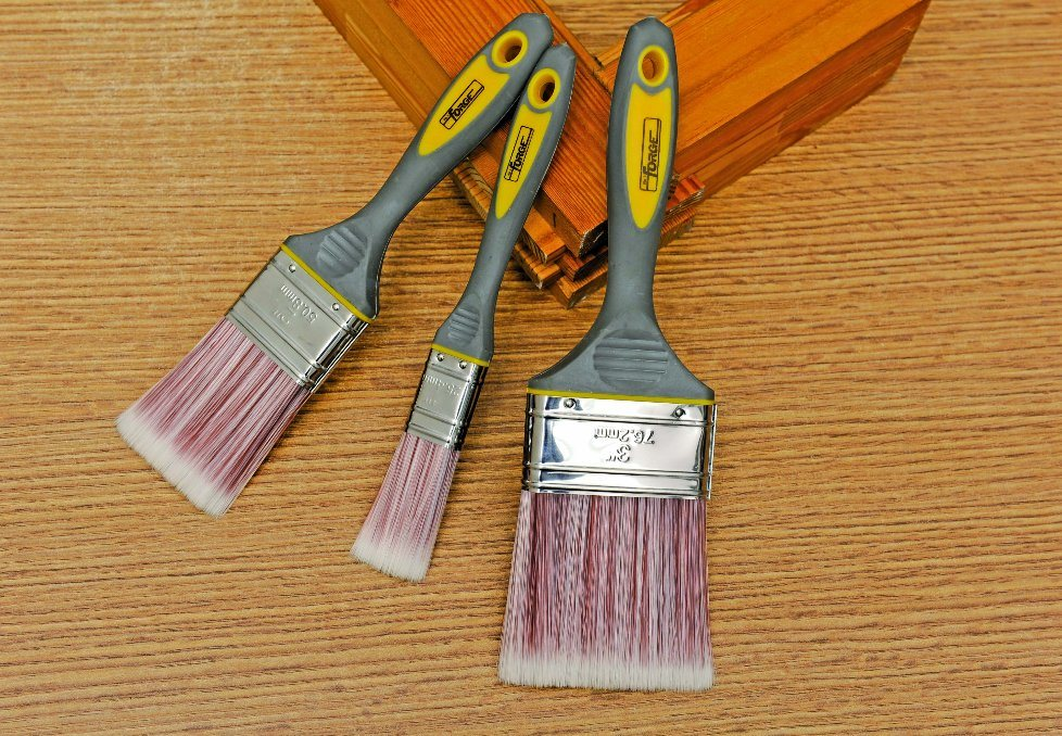 """2"""" Painting Tools Paint Brush with Sharpened Synthetic Bristles and TPR Handle"""