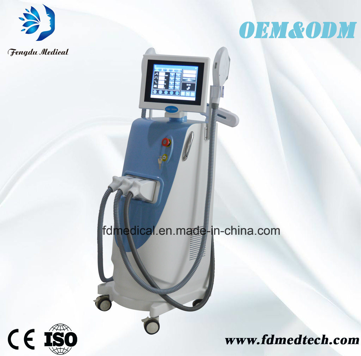 China Multifunction IPL Elight Laser Machine with Powerful Cooling System with Medical Ce Approval