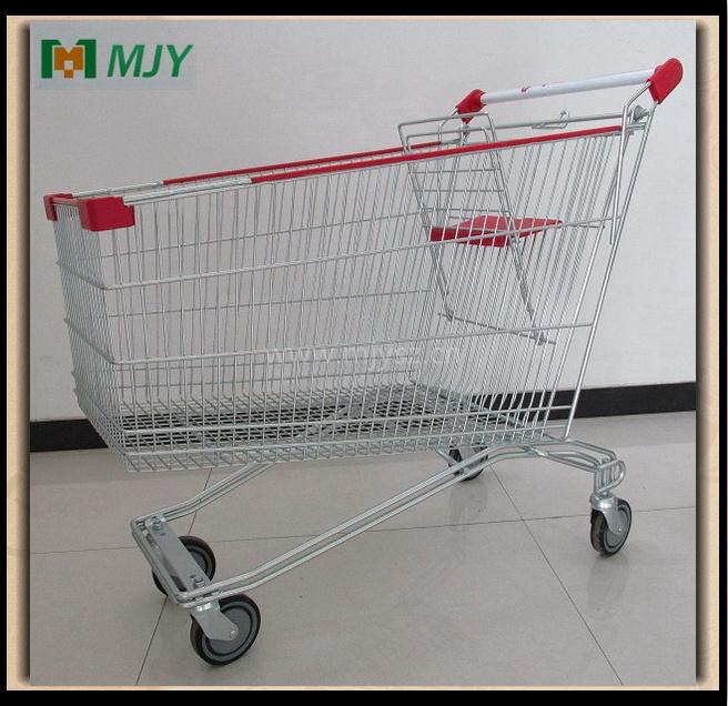 Cadde Supermarket Shopping Cart Zinc Plated with Clear Epoxy Coating Mjy-Sec210