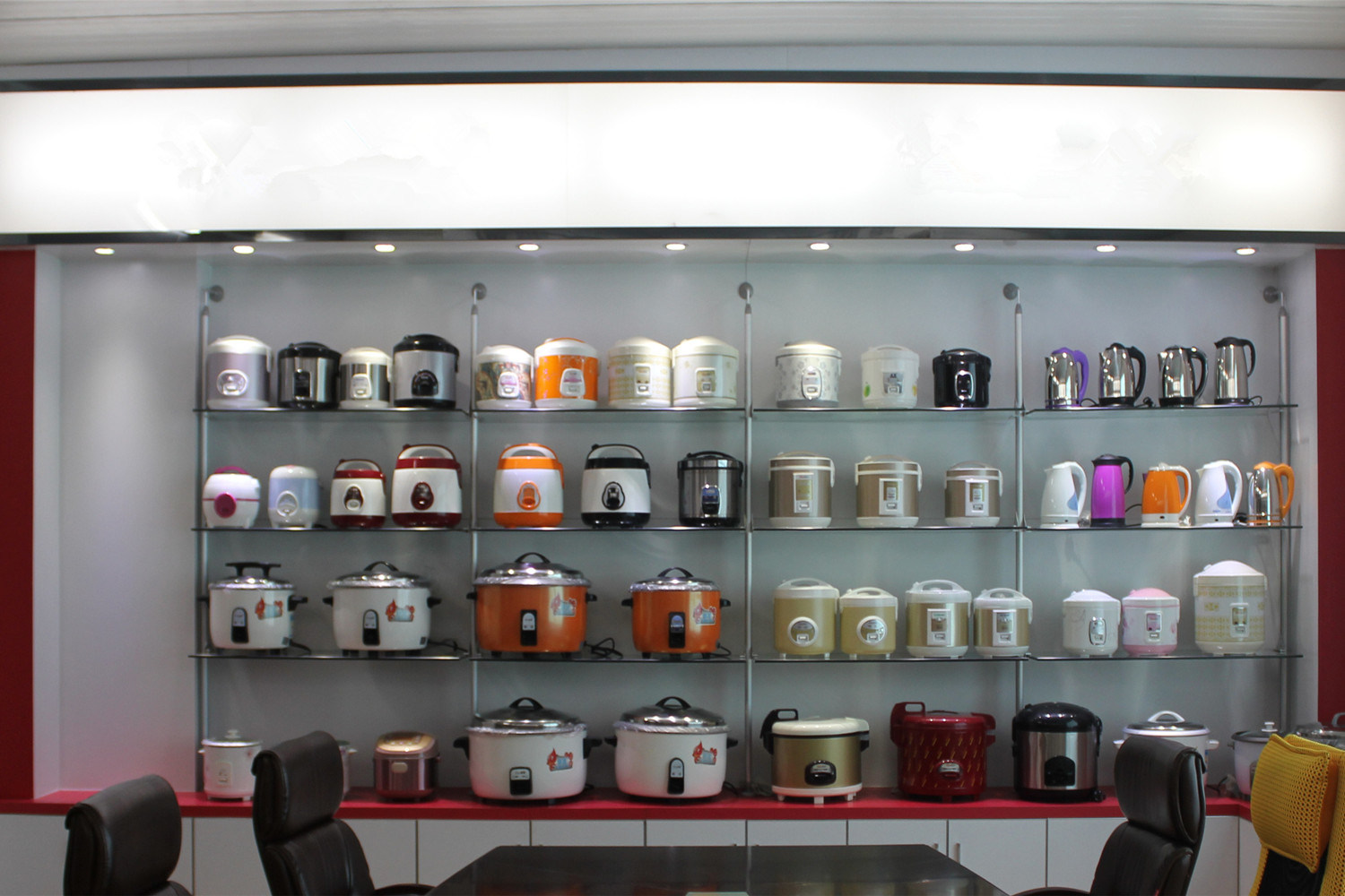 Hot Sale Rice Cooker with Glass Window Plastic Handle
