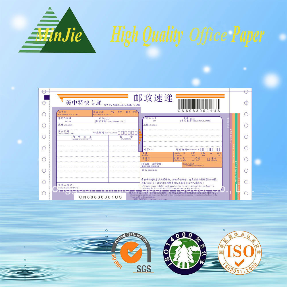 Best Selling Computer Paper Quality NCR Paper Continuous Forms Printing