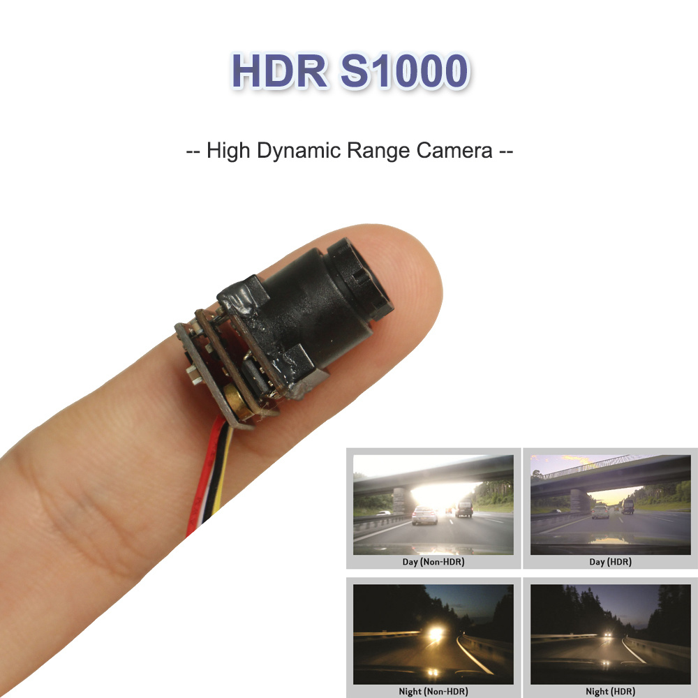1000tvl High Resolution Wide Dynamic Range Mini Security Video Camera (HDR S1000)