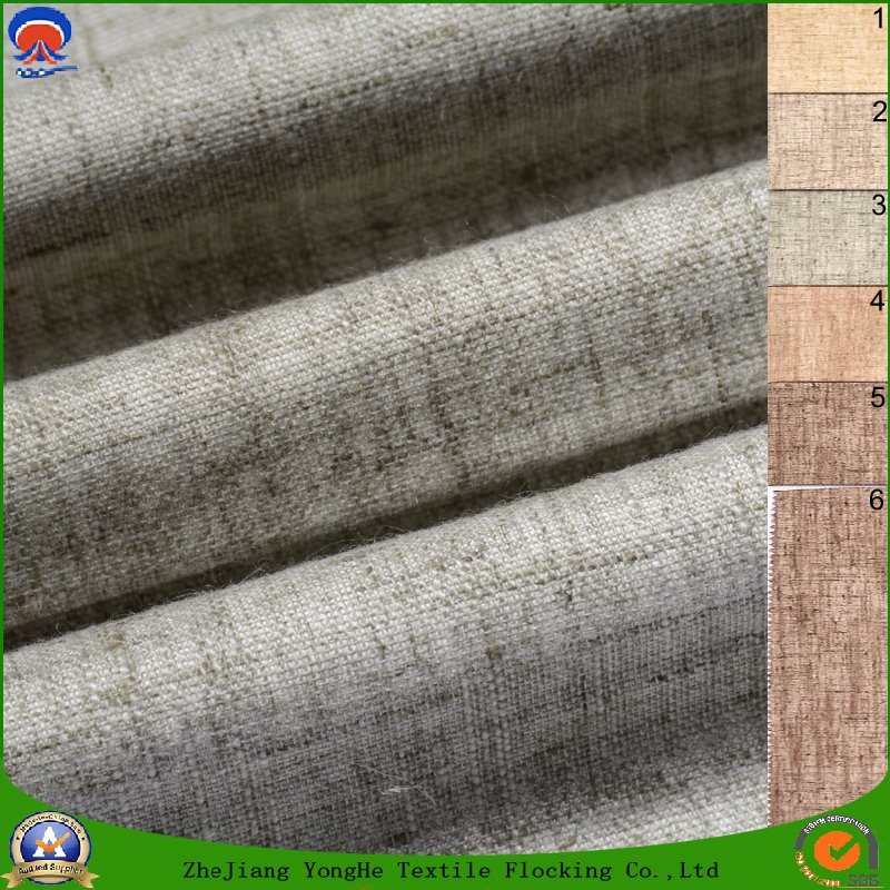 Home Textile Woven Upholstery Fabric Polyester Waterproof Fr Flocking Blackout Fabric for Curtain and Sofa