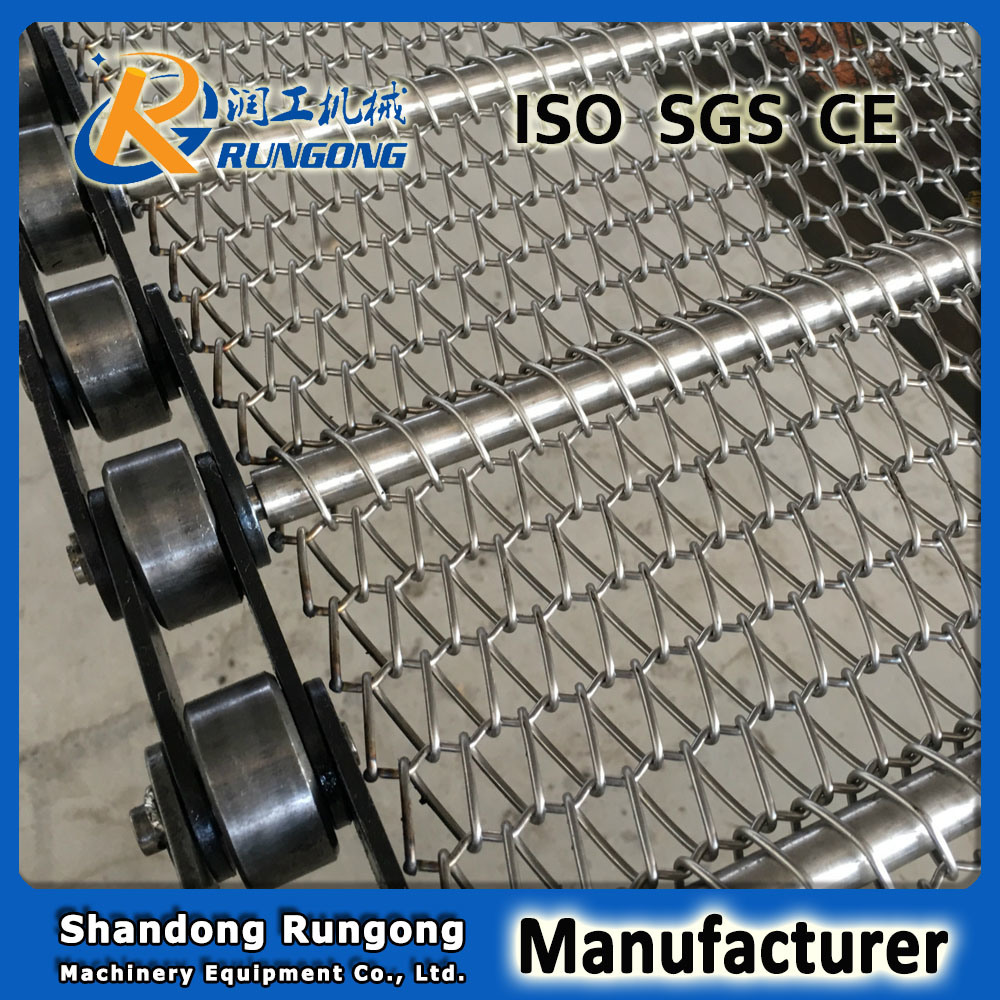 Manufacturer Chain Conveyor Belt Carbon Steel Chain Conveyor Wire Mesh Belt
