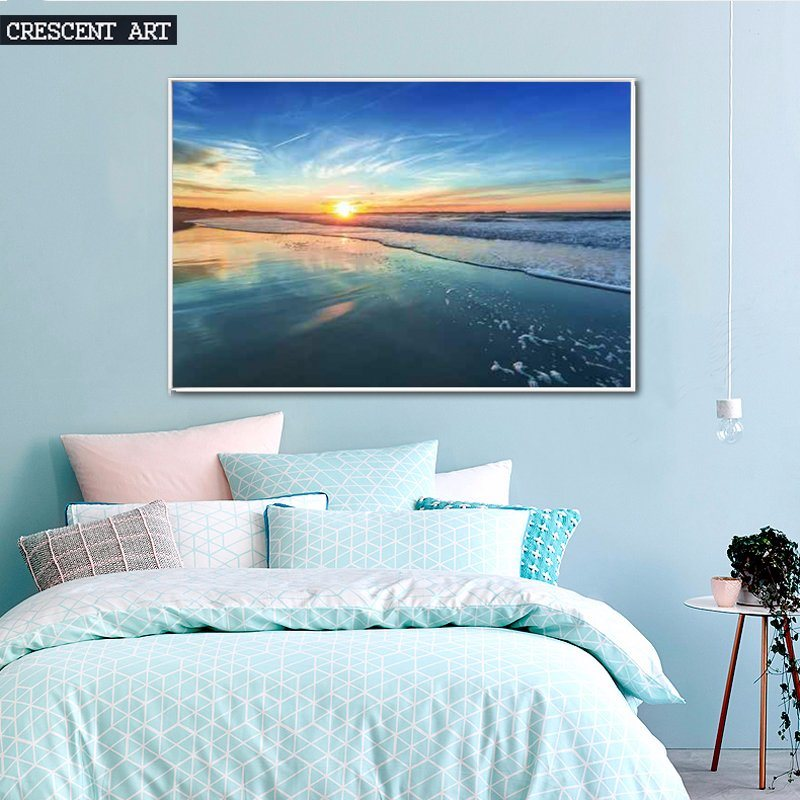 Turquoise Seaside View Canvas Prints
