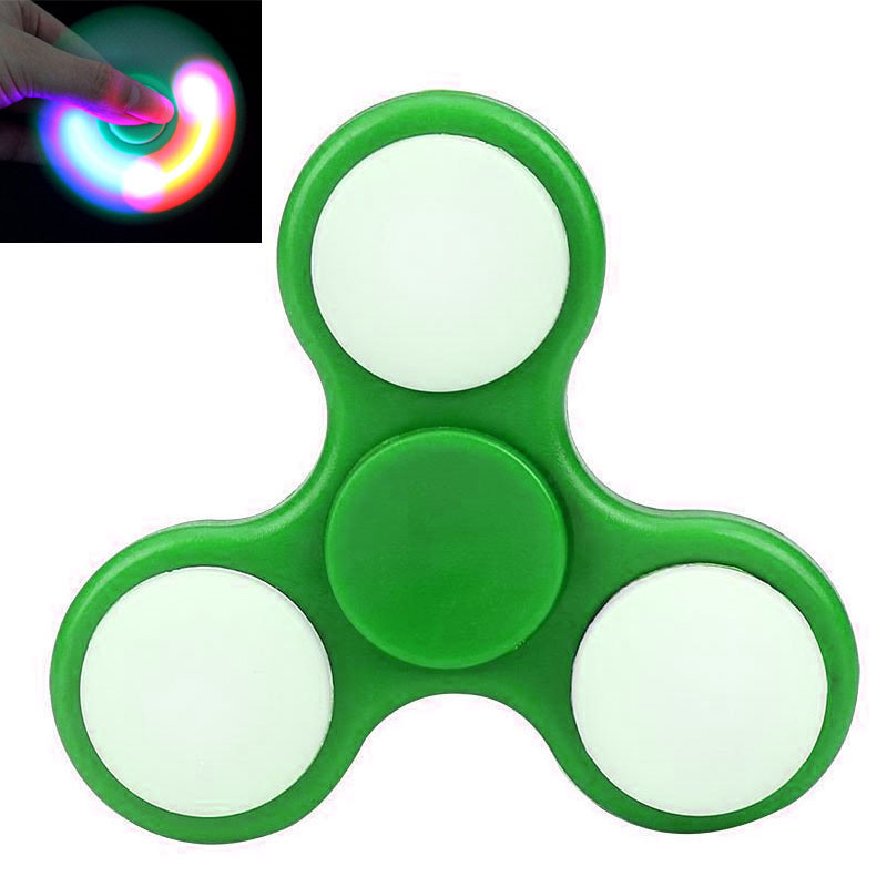 LED Light Style Finger Fidget Spinner Plastic Hand Spinner Anxiety Stress Gift Toy