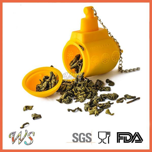 Ws-If059 Food Grade Silicone Submarine Tea Infuser Set Leaf Strainer for Mug Cup, Tea Pot