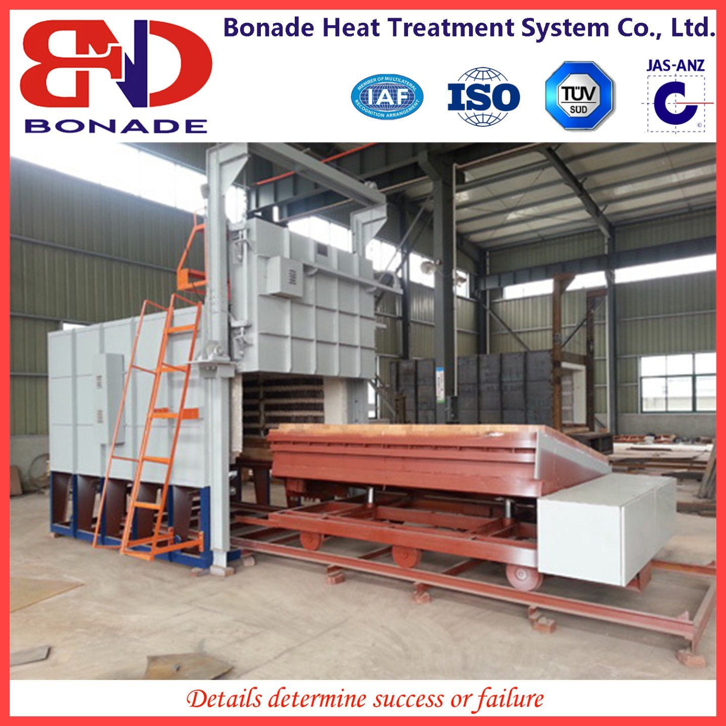 Trolley Type Heat Treatment Furnace for Rapid Quenching