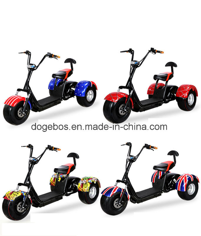 Original Factory Trike Harley Citycoco Electric Scooter with Removable Battery