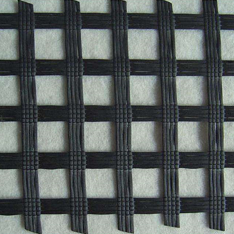20-1200kn/M Wrap Knitting Polyester Pet Geogrid