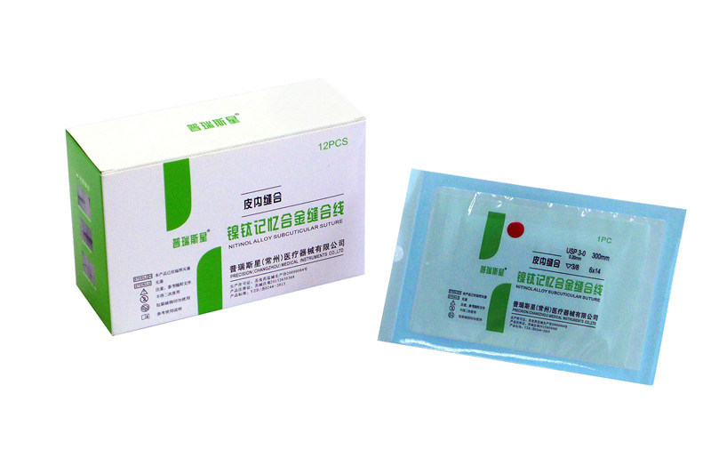Disposable Nitinolalloy Subcuticular Suture with Ce