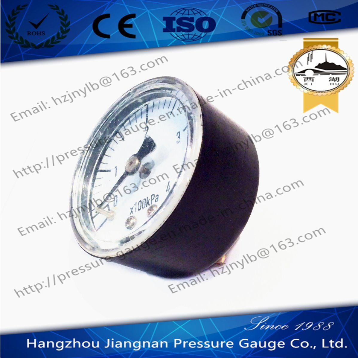 40mm 1.5′′ General Pressure Gauge with Axial Direction