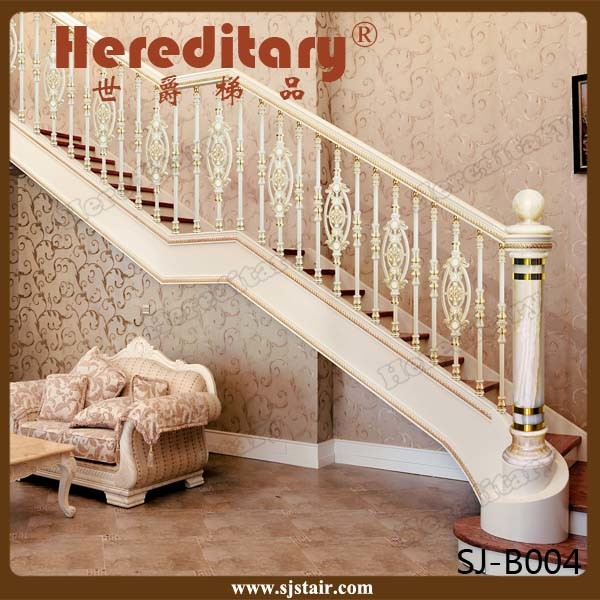 Rose Color Villa Interior Cast Aluminum Stair Handrail (SJ-B028)