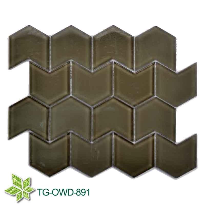 Brown Irregular Glass Mosaic (TG-OWD-891)