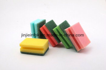 2017 Best Sale Kitchen Cleaning Sponge Scouring Pad