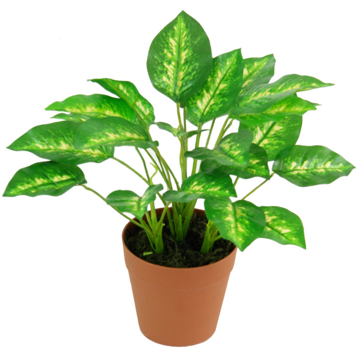 Nice Decoration High Quality Artificial Plants of Dieffenbachia with Plastic Pot