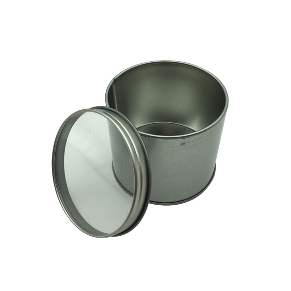 Wholesale Tin Box Metal Round Empty Tin Can with Clear PVC Window